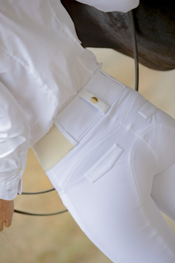 A Tiss B - pantalon blanc - pantalon romy - femme - photo de dos