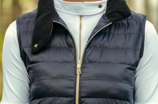 A Tiss B - doudoune - doudoune sans manche - femme - col à bouton - fermeture éclair