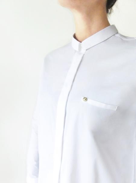 A Tiss B - chemise - voltige - femme - blanc - poche - élégance