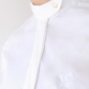 A Tiss B - col à bouton - chemise - concours - blanc - femme