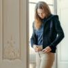 A Tiss B - sweat - femme - bleu marine - capuche avec cordon