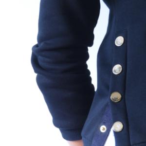 A Tiss B - sweat - femme - bleu marine - boutons dorés - boutons à pression