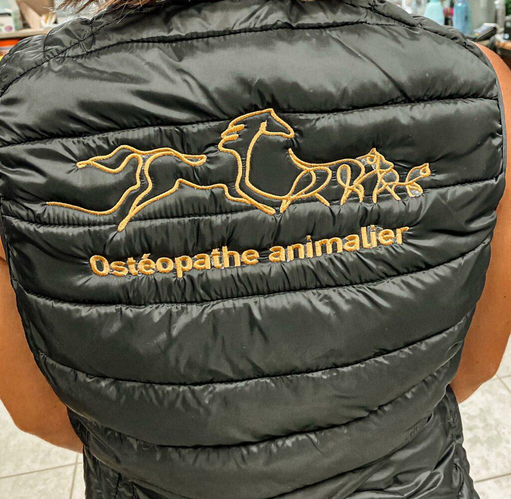 doudoune brodée - Ostéopathe animalier